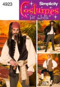 4923 Simplicity Pattern: Men's Pirate Costumes
